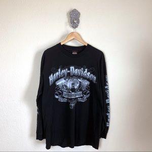 Harley Davidson long sleeve graphic t-shirt